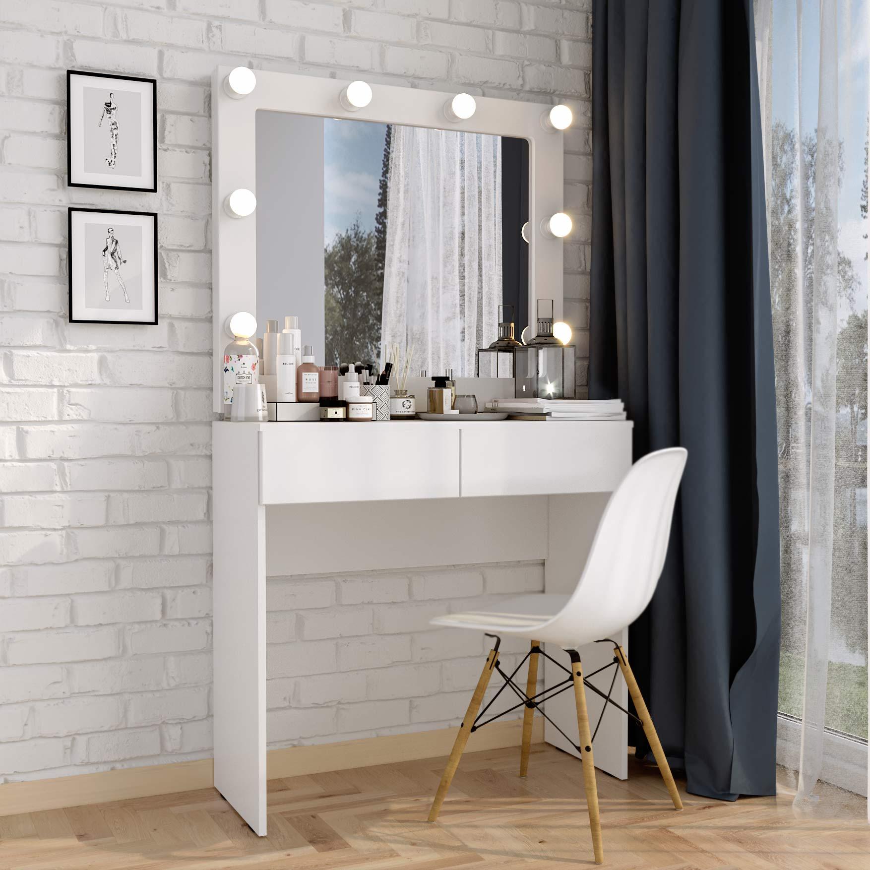 кованый туалетный столик с зеркалом купить
