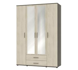 """Шкаф для одежды и белья с зеркалом """"Оскар"""" Ясень Анкор"""