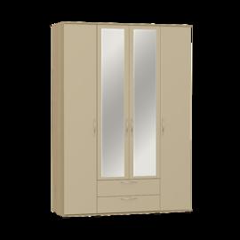 """Шкаф для одежды и белья с зеркалом """"Оскар"""" МДФ Дуб крем"""