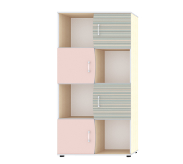 """Шкаф для книг с четырьмя дверьми """"Джуниор"""" Ирис"""