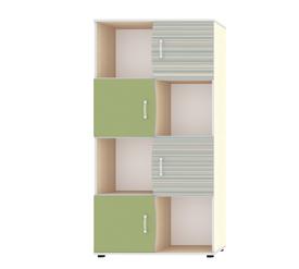 """Шкаф для книг с четырьмя дверьми """"Джуниор"""" Зеленый"""