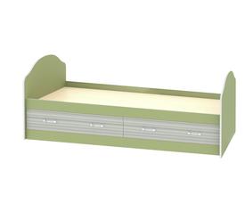 Кровать детская «ДЖУНИОР» с ящиками (цвет - Зеленый/Модерн)