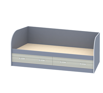 """Кровать с ящиками и спинкой """"Джуниор"""" Лаванда"""