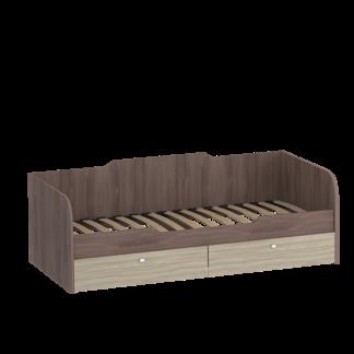 Подростковая кровать «ОМЕГА» 900 (цвет – Ясень шимо светлый, Ясень шимо темный)