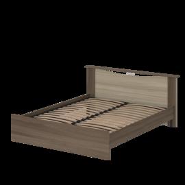 Кровать «БЭЛЛА» двуспальная 1400 (цвет – Ясень шимо светлый)