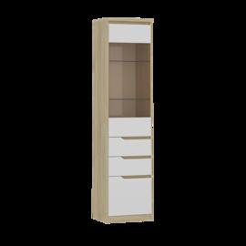 Шкаф с витриной левый
