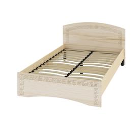 Кровать «ОСКАР» полутораспальная 1200 (цвет - Капучино/ Млечный дуб)
