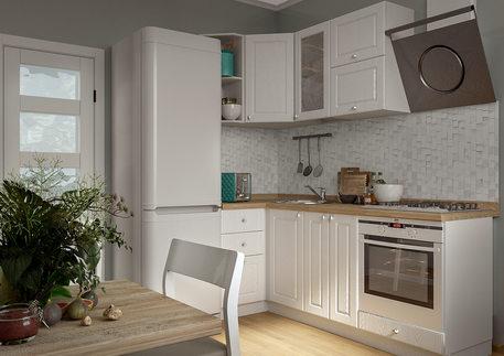 Кухня «ПРОВАНС» (цвет дуб фактурный белый)