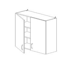 6.101 Шкаф наст. (800 x 862 x 300) МДФ Черный глянец фреза