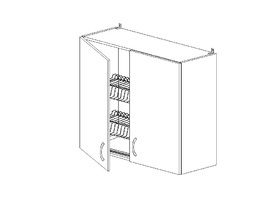 Амели 6.103 Шкаф наст. с сушилкой (800 x 862 x 300) ЛДСП Ясень Шимо