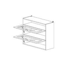 Амели 6.110 Шкаф наст. горизонт. со стеклом/ниша ЛДСП (800 x 862 x 300) ЛДСП Ясень Шимо