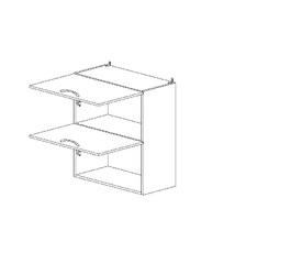 6.127 Шкаф наст. горизонтальный (600 x 862 x 300) МДФ Черный глянец фреза