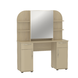 "Стол туалетный с зеркалом ""Оскар"" МДФ Дуб крем"