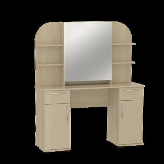 """Стол туалетный с зеркалом """"Оскар"""" МДФ Крем глянец"""