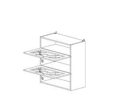 6.130 Шкаф наст. горизонт. со стеклом/ниша (600 x 862 x 300) МДФ Черный глянец фреза