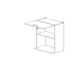 6.135 Шкаф наст. с нишей для микроволновки (600 x 862 x 300) МДФ Черный глянец фреза