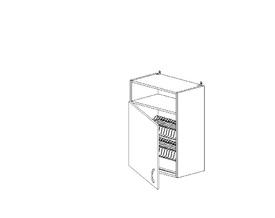 6.143 Шкаф наст. одностворч.с сушилкой/ниша (500 x 862 x 300) МДФ Черный глянец фреза