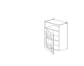 6.145 Шкаф наст. со стеклом/ниша МДФ (500 x 862 x 300) МДФ Черный глянец фреза