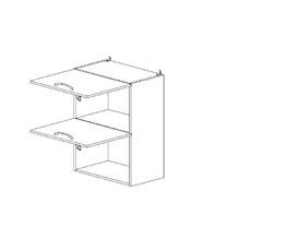 6.146 Шкаф наст. горизонтальный (500 x 862 x 300) МДФ Черный глянец фреза