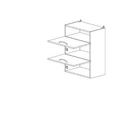 6.147 Шкаф наст. горизонтальный/ниша (500 x 862 x 300) МДФ Черный глянец фреза