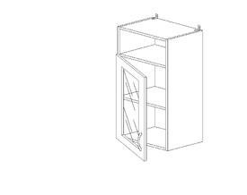 6.159 Шкаф наст. со стеклом/ниша МДФ(400 x 862 x 300) МДФ Черный глянец фреза
