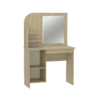 "Стол туалетный с зеркалом новый ""Оскар"" МДФ Крем глянец"
