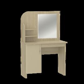 "Стол туалетный с зеркалом новый ""Оскар"" МДФ Дуб крем"