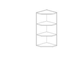 Амели 6.165 Завершающий элемент верхний (280 x 862 x 280) ЛДСП Ясень Шимо