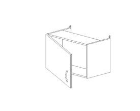 7.172 Шкаф над вытяжкой (600 x 402 x 300) МДФ Черный глянец фреза
