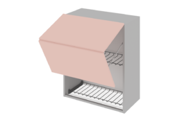 Шкаф средний 900 горизонтальный BLUM под сушилку с алюминиевой рамкой