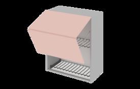 Шкаф средний 500 горизонтальный BLUM под сушилку с алюминиевой рамкой