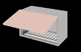 Шкаф низкий гор. под сушилку с алюминиевой рамкой 800  h=360