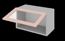 Шкаф низкий горизонтальный 600 со стеклом  h=360