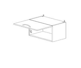 4.50 Шкаф-витрина (500 x 326 x 300) МДФ Черный глянец фреза