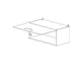 4.52 Шкаф-витрина (600 x 326 x 300) МДФ Белый глянец
