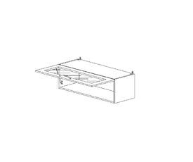 4.55 Шкаф-витрина со стеклом МДФ(800 x 326 x 300) МДФ Черный глянец фреза