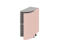 Завершаюший элемент нижний радиусный  (правый)