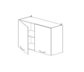 5.56 Шкаф наст. (1 полка) (800 x 652 x 300) МДФ Черный глянец фреза
