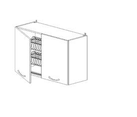 5.57 Шкаф наст. с сушилкой (800 x 652 x 300) МДФ Черный глянец фреза
