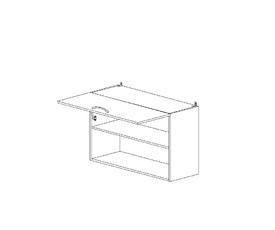 5.61 Шкаф наст. с нишей горизонт. (800 x 652 x 300) МДФ Черный глянец фреза