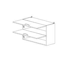 Амели 5.62 Шкаф наст. горизонтальный (800 x 652 x 300) ЛДСП Ясень Шимо