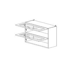 5.63 Шкаф наст. горизонтальный со стеклом МДФ (800 x 652 x 3) МДФ Черный глянец фреза