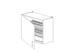 5.69 Шкаф наст. с сушилкой одностворч. (600 x 652 x 300) МДФ Белый глянец