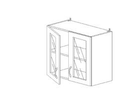 Лора 5.70 Шкаф наст. со стеклом двустворч. ЛДСП (1 полка) (600 x 652 x 300) ЛДСП Бук