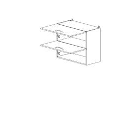 5.72 Шкаф наст. горизонтальный (600 x 652 x 300) МДФ Черный глянец фреза