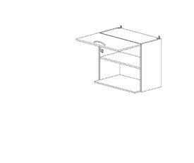 5.76 Шкаф наст. с нишей для микроволновки (600 x 652 x 300) МДФ Черный глянец фреза