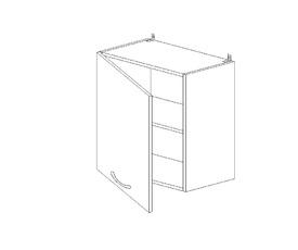 5.78 Шкаф наст. одностворч.(1 полка) (500 x 652 x 300) МДФ Черный глянец фреза
