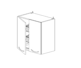 Амели 5.79 Шкаф наст. с сушилкой двустворч. (500 x 652 x 300) ЛДСП Ясень Шимо