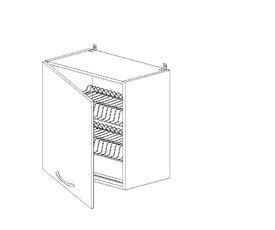 Амели 5.80 Шкаф наст. с сушилкой одностворч. (500 x 652 x 300) ЛДСП Ясень Шимо