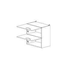 5.82 Шкаф наст. горизонтальный (500 x 652 x 300) МДФ Черный глянец фреза